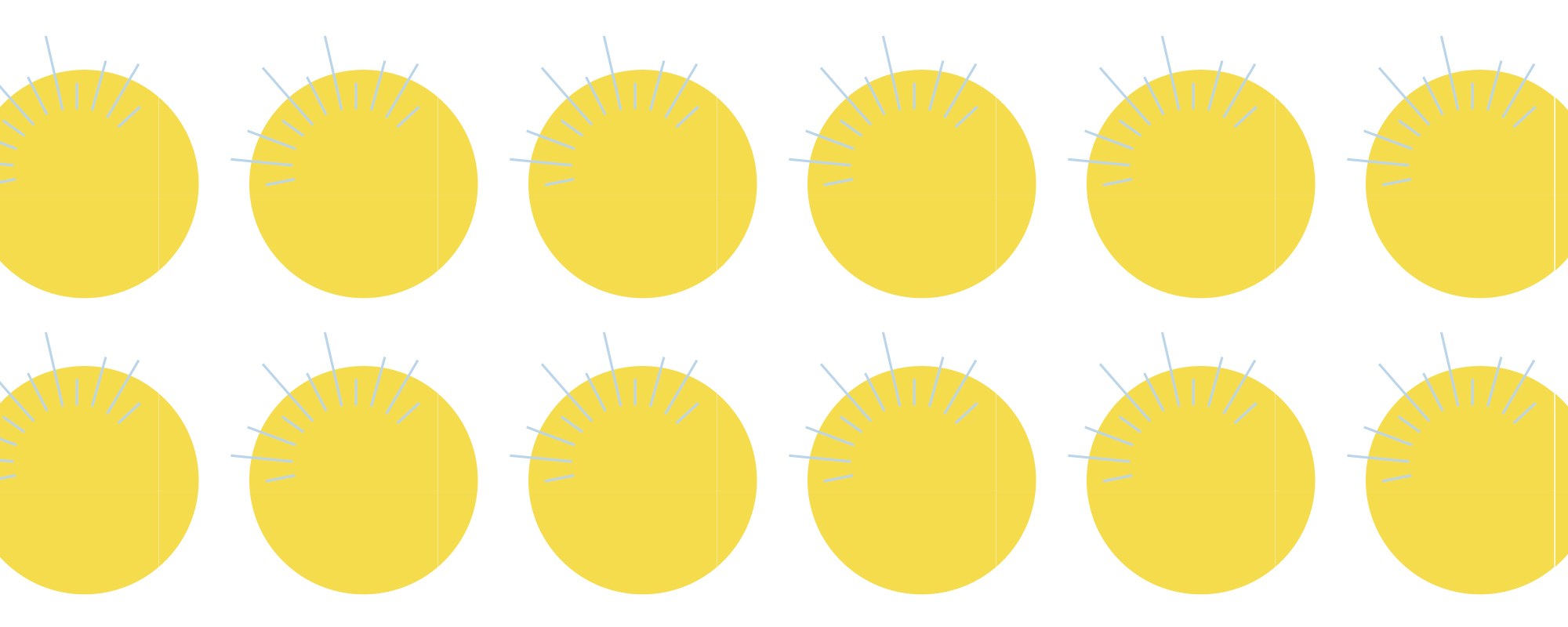 Yellow circle pattern with line detail